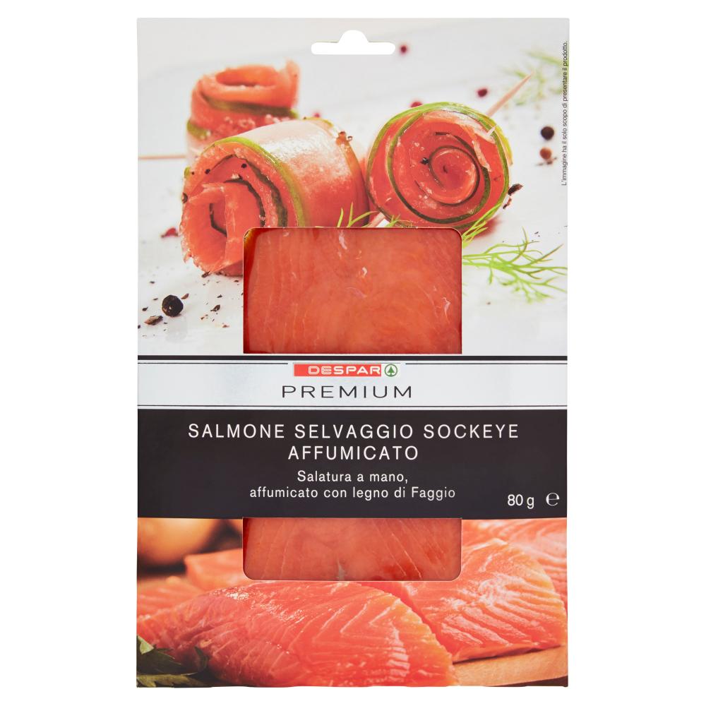 Despar Premium Salmone Selvaggio Sockeye Affumicato 80 g