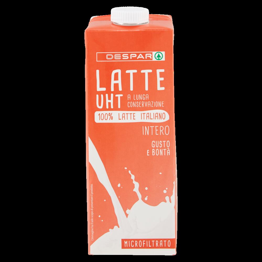 Despar Latte UHT a Lunga Conservazione Intero Microfiltrato 1 L