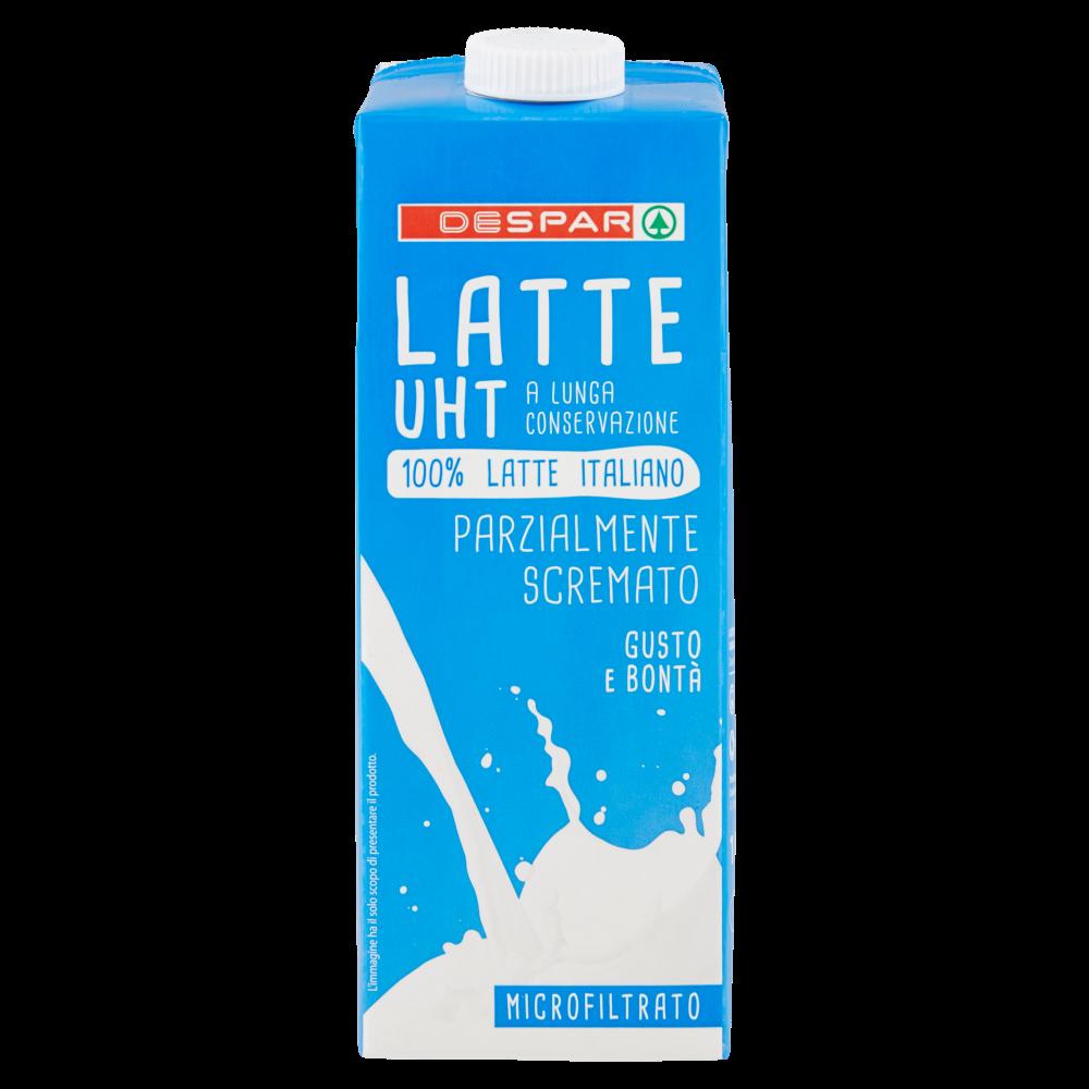 Despar Latte UHT a Lunga Conservazione Parzialmente Scremato Microfiltrato 1 L