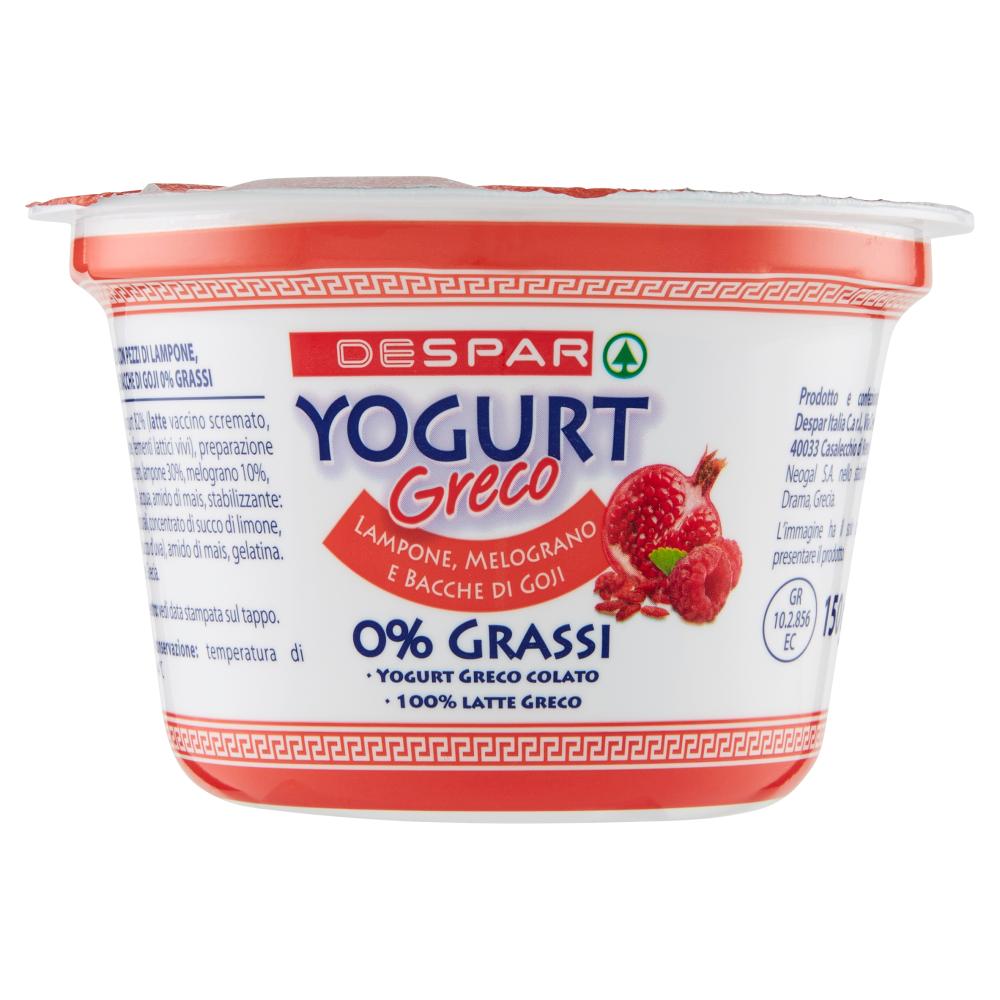 YOGURT GRECO 0%DESPAR 150G LA/MELOG/GOJI