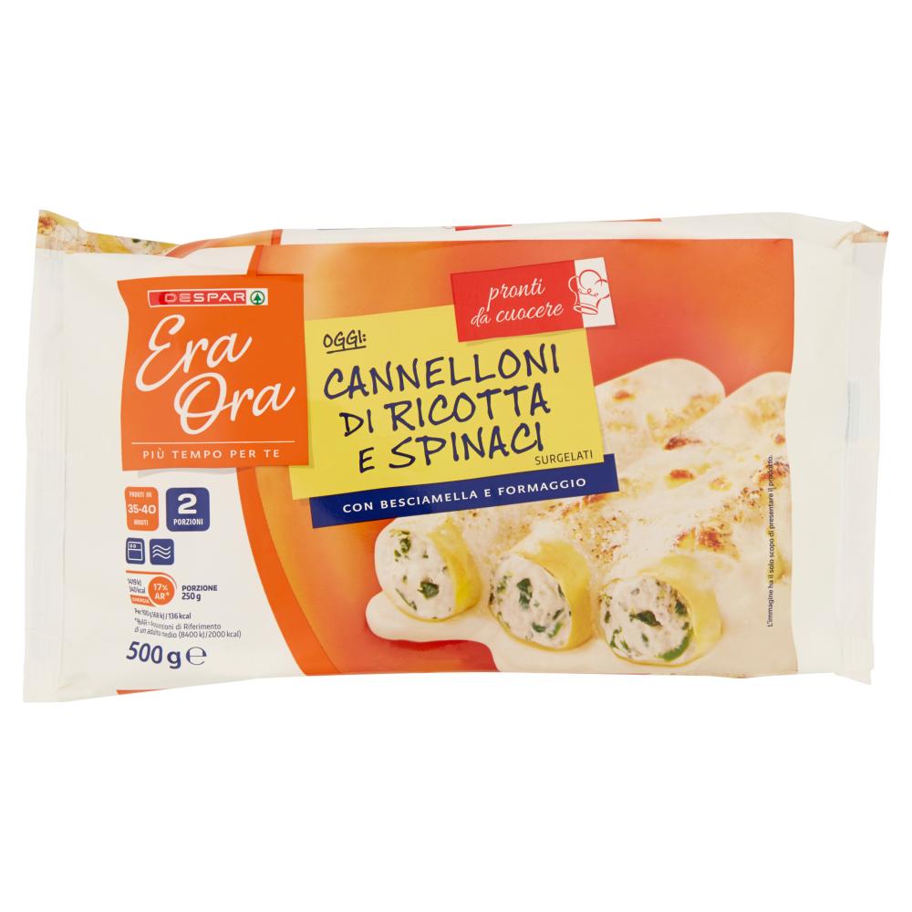Despar Era Ora Cannelloni di Ricotta e Spinaci 500 g