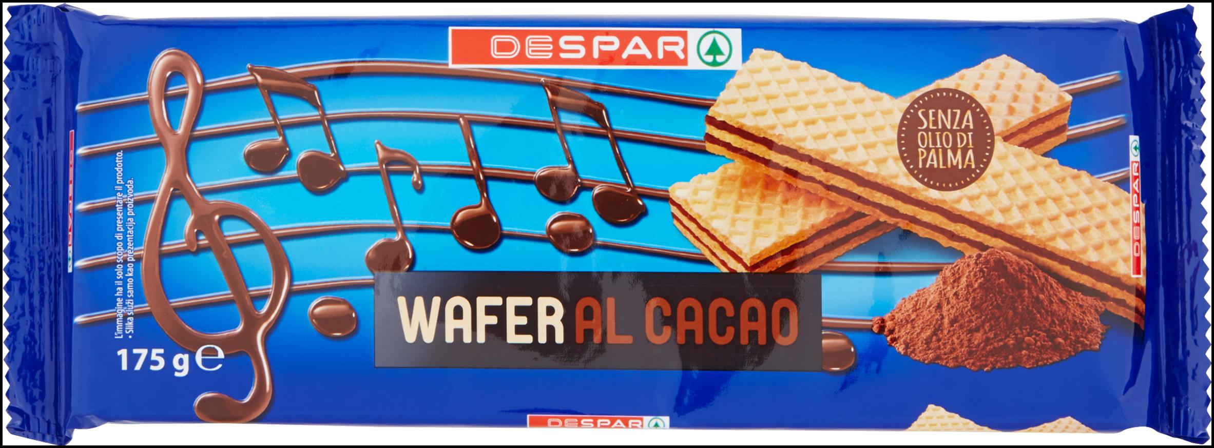 WAFER DESPAR 175G CACAO