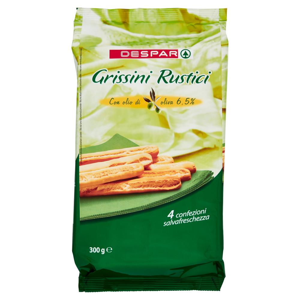 Despar Grissini Rustici Con olio di oliva 6,5% 4 x 75 g