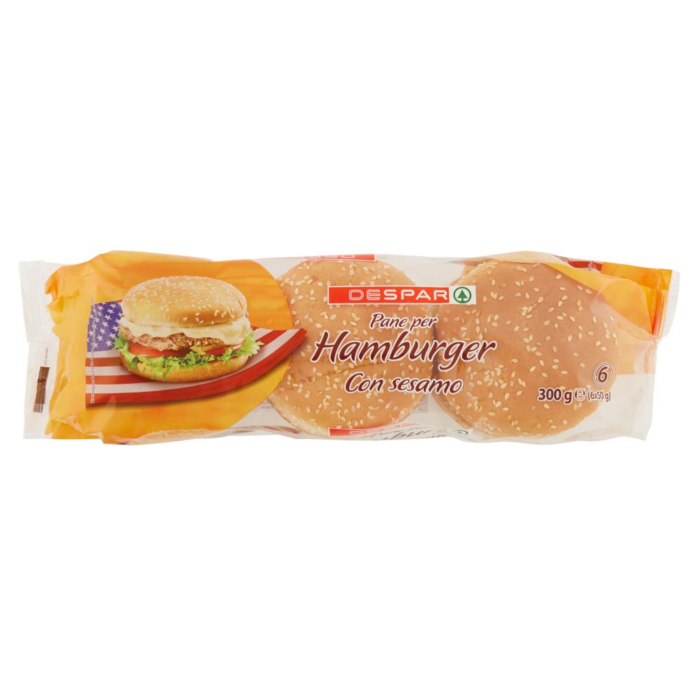 Despar Pane per Hamburger con sesamo 6 x 50 g