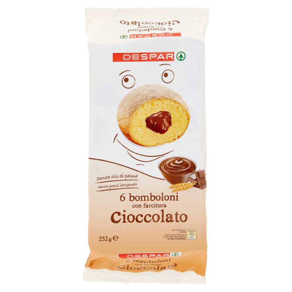 Despar 6 bomboloni con farcitura cioccolato 252 g