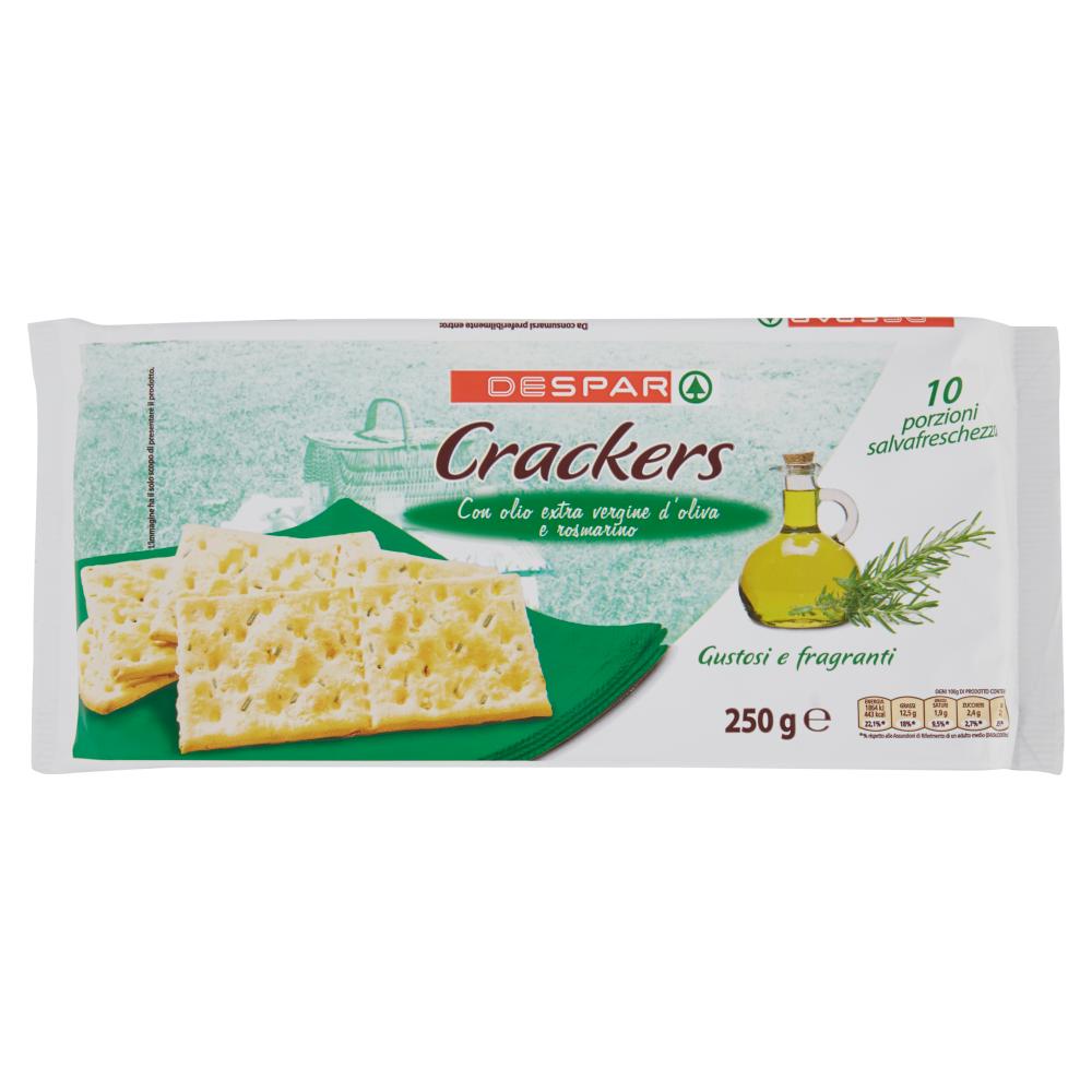 Despar Crackers con olio extra vergine d'oliva e rosmarino 10 x 25 g