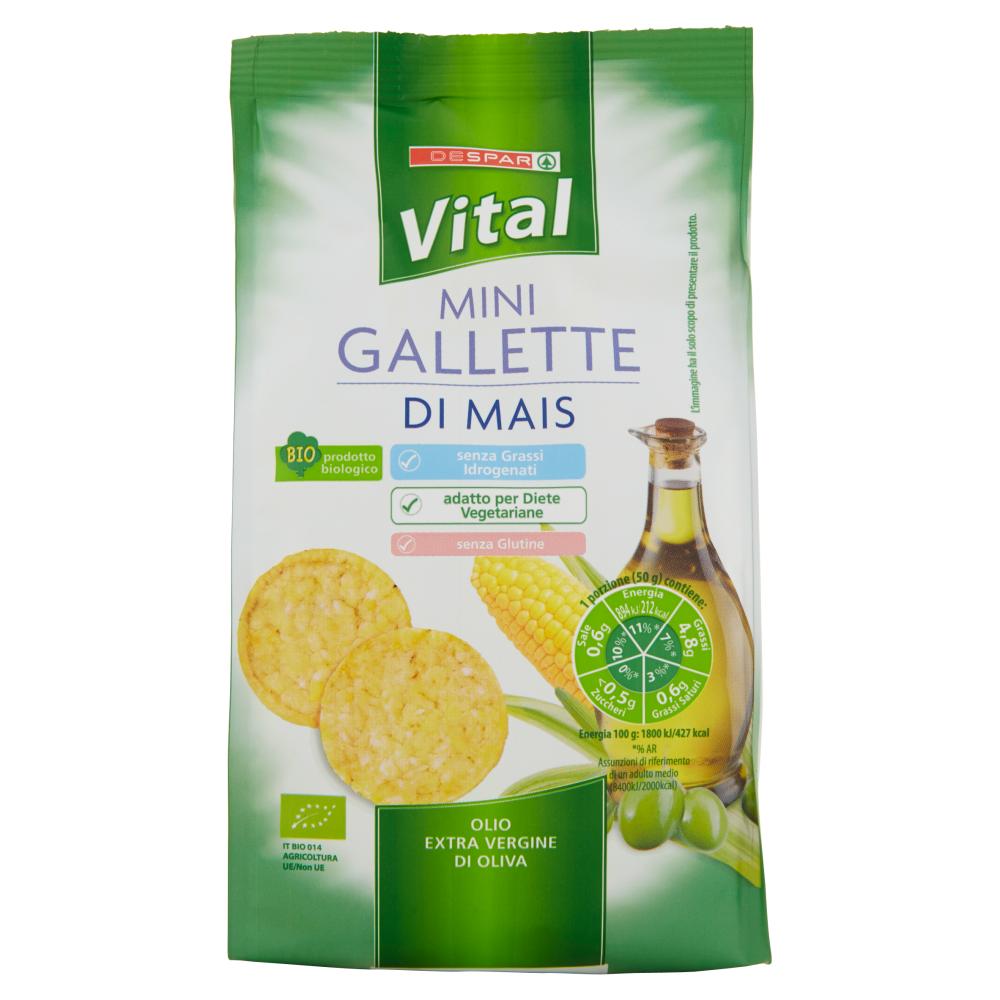Despar Vital Mini Gallette di Mais Olio Extra Vergine di Oliva 50 g