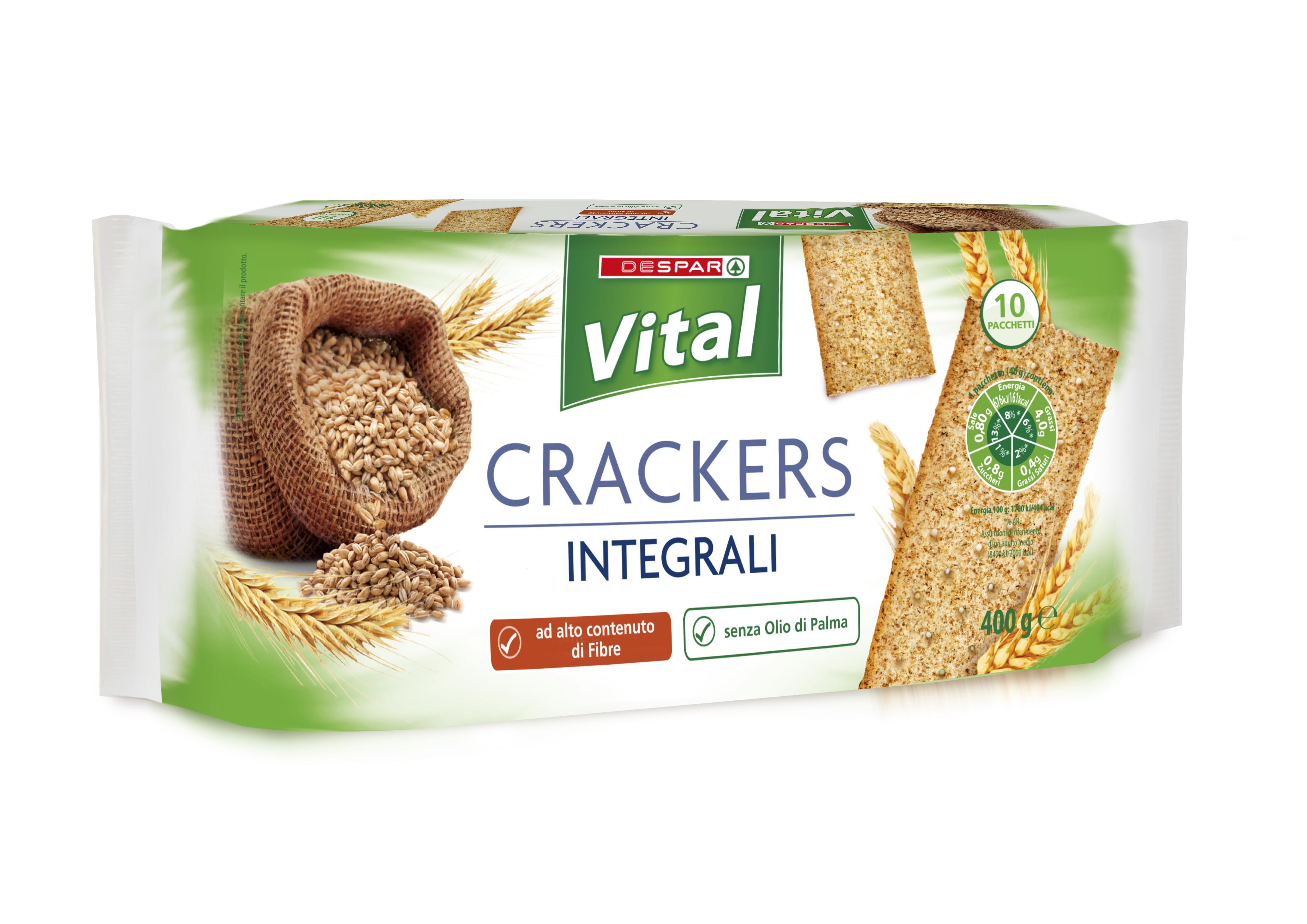 CRACKERS INTEGRALI VITAL 400G EXTRA FIBR