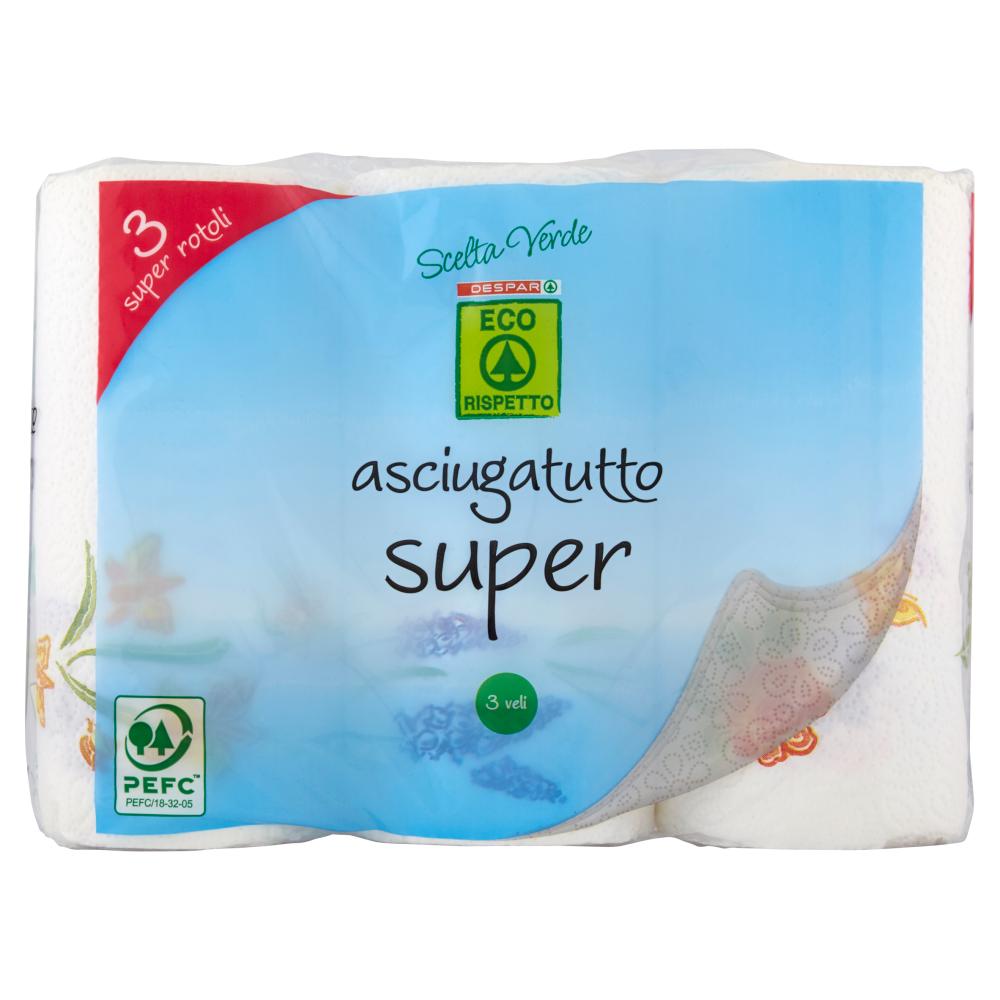Despar Eco Rispetto Scelta Verde asciugatutto super 3 veli 3 pz