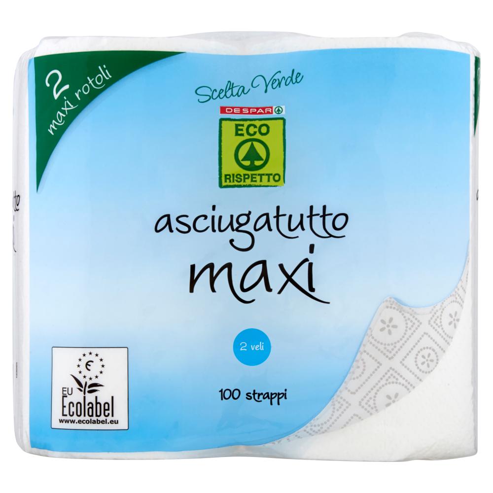Despar Eco Rispetto Scelta Verde asciugatutto maxi 100 strappi 2 veli 2 pz
