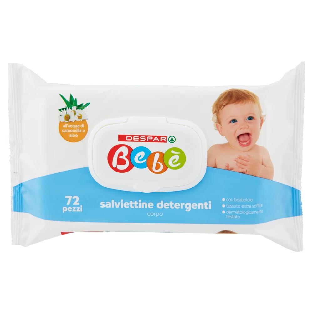 Despar Bebè salviettine detergenti corpo 72 pezzi