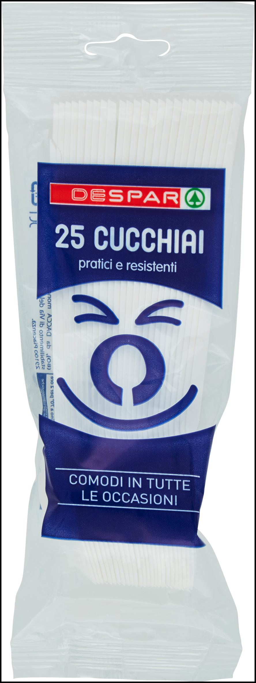 CUCCHIAI PLASTICA DESPAR 25PZ