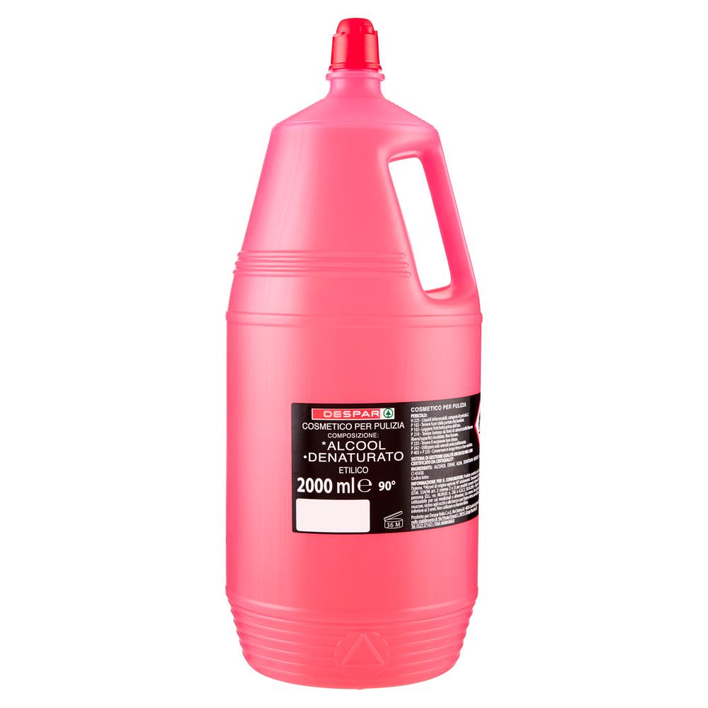 Despar Cosmetico per Pulizia *Alcool °Denaturato Etilico 90° 2000 ml
