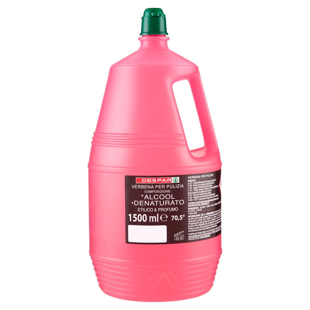 Despar Verbena per Pulizia *Alcool °Denaturato Etilico & Profumo 70,5° 1500 ml