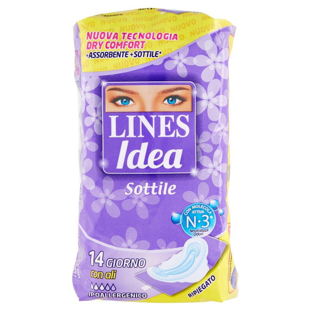 Lines Idea Sottile Giorno con ali Ripiegato 14 pz