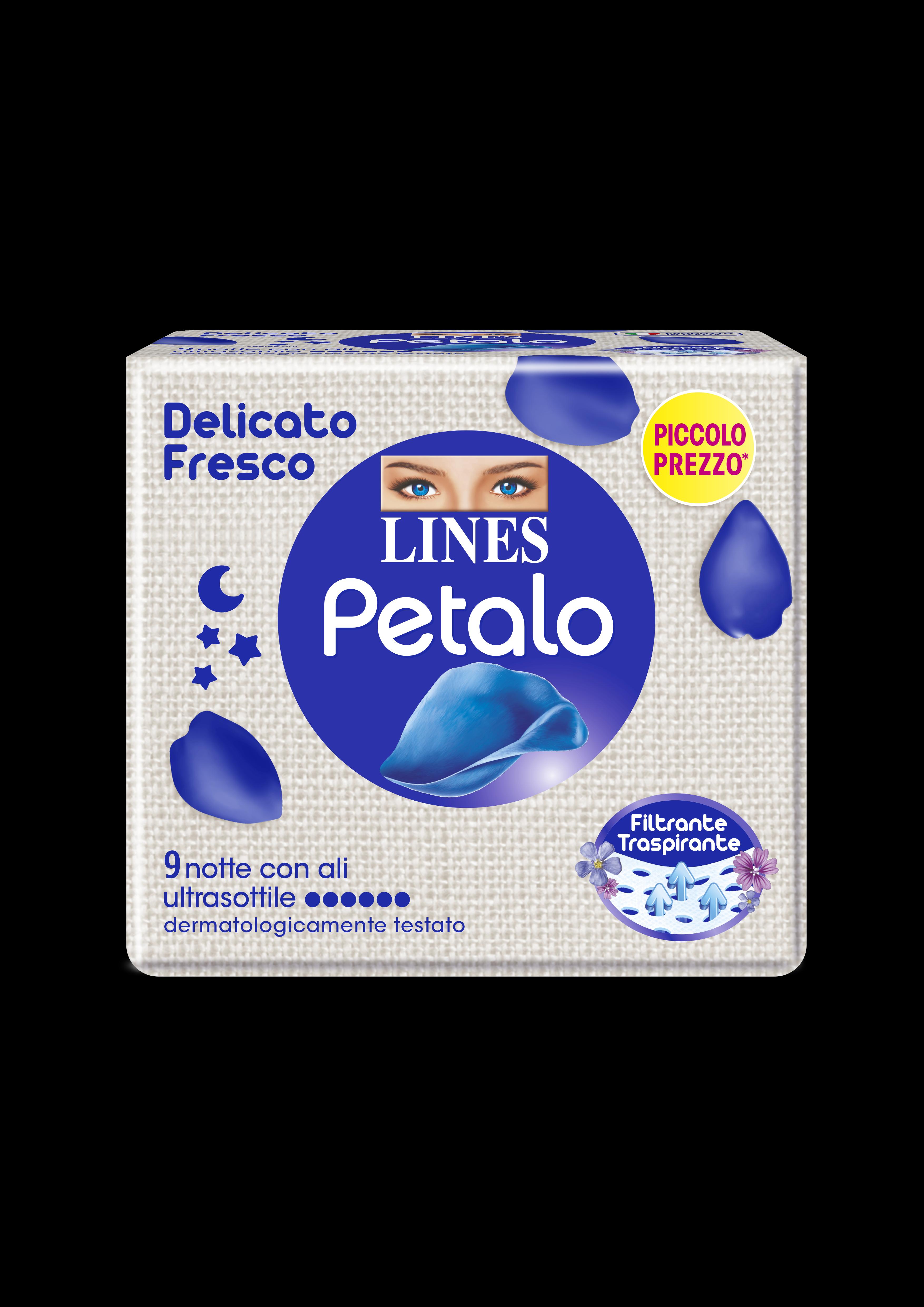 ASS.PETALO BLU LINES X9 NOTTE