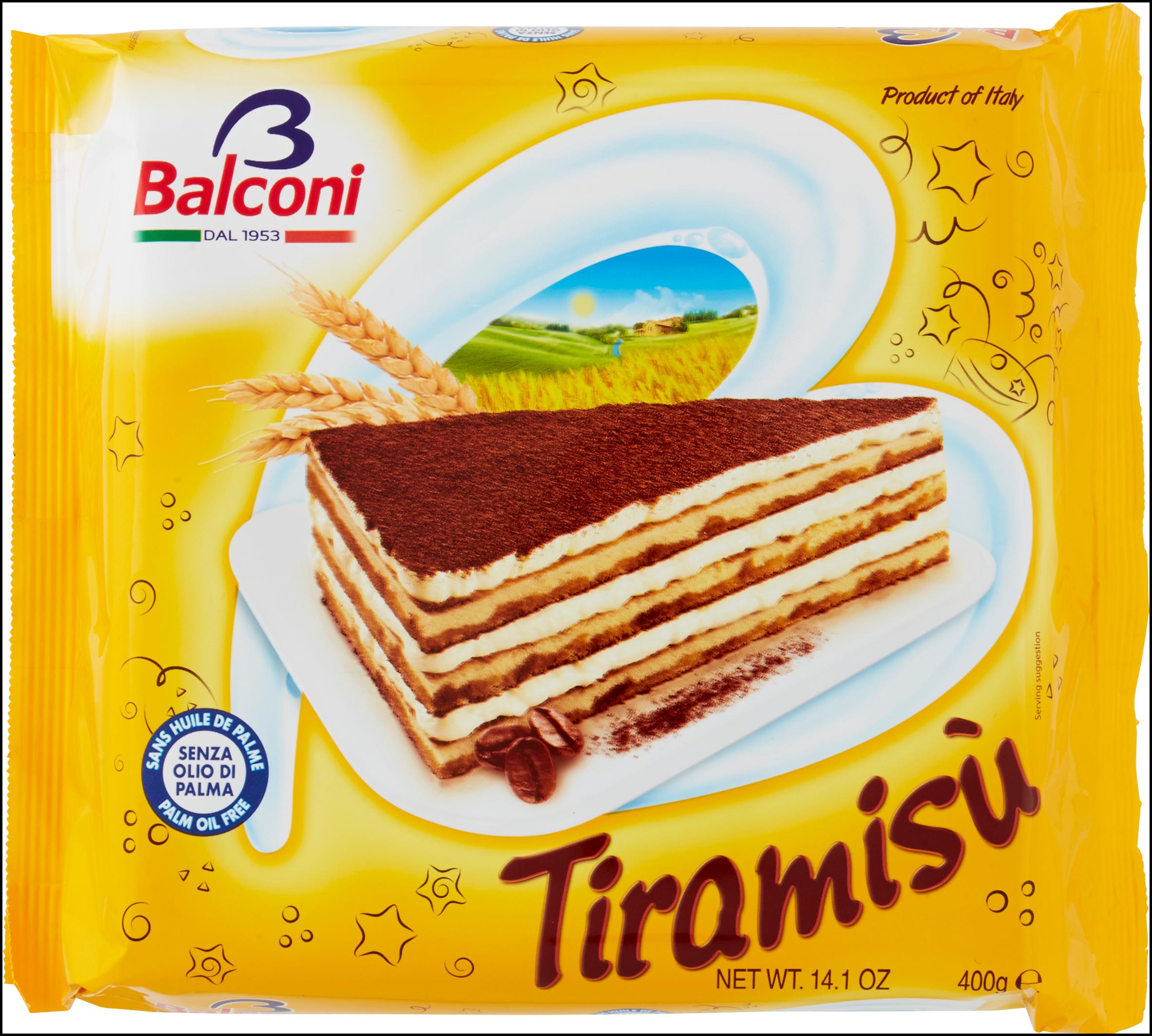 TORTA BALCONI 400G TIRAMISU