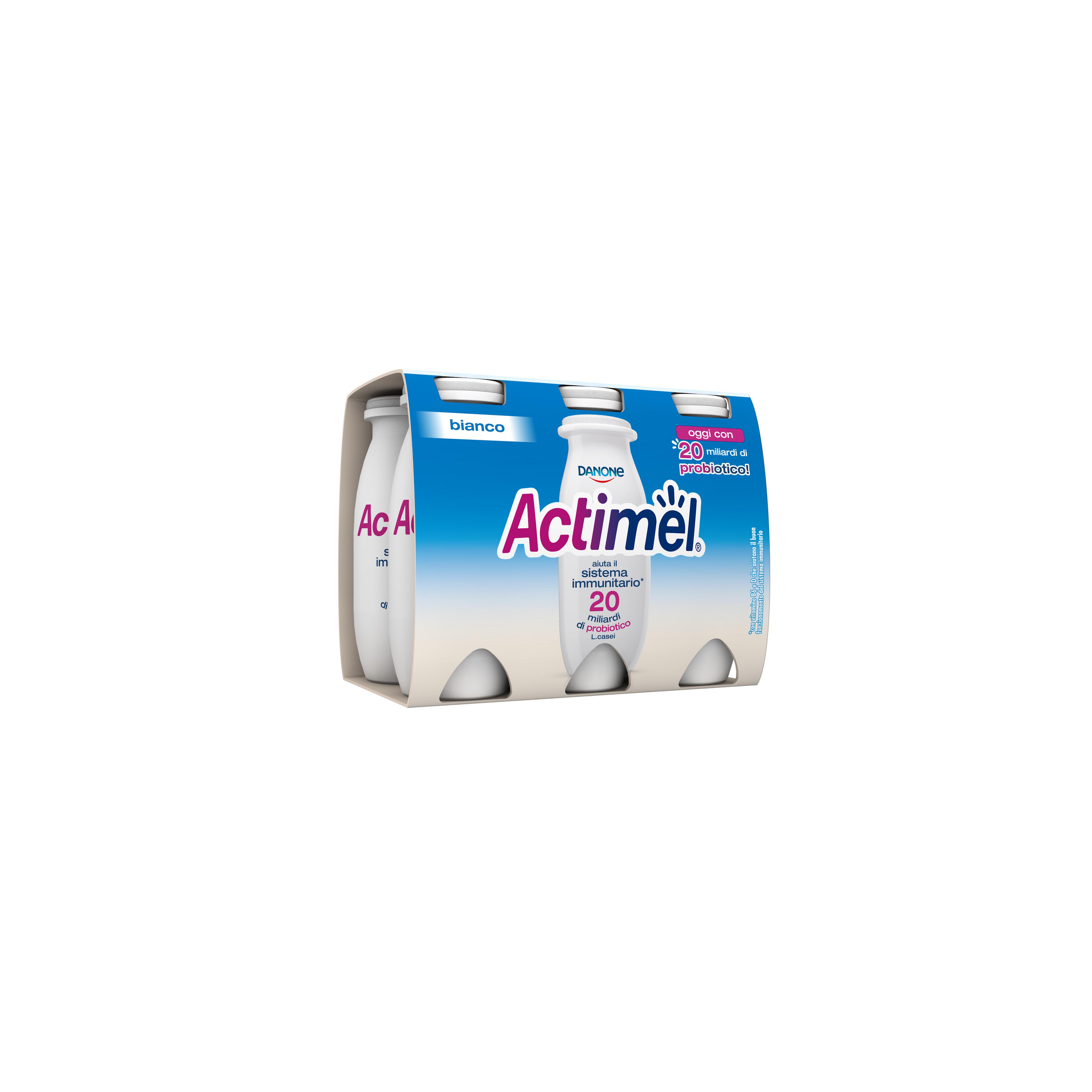 ACTIMEL DANONE 100GX6 BIANCO