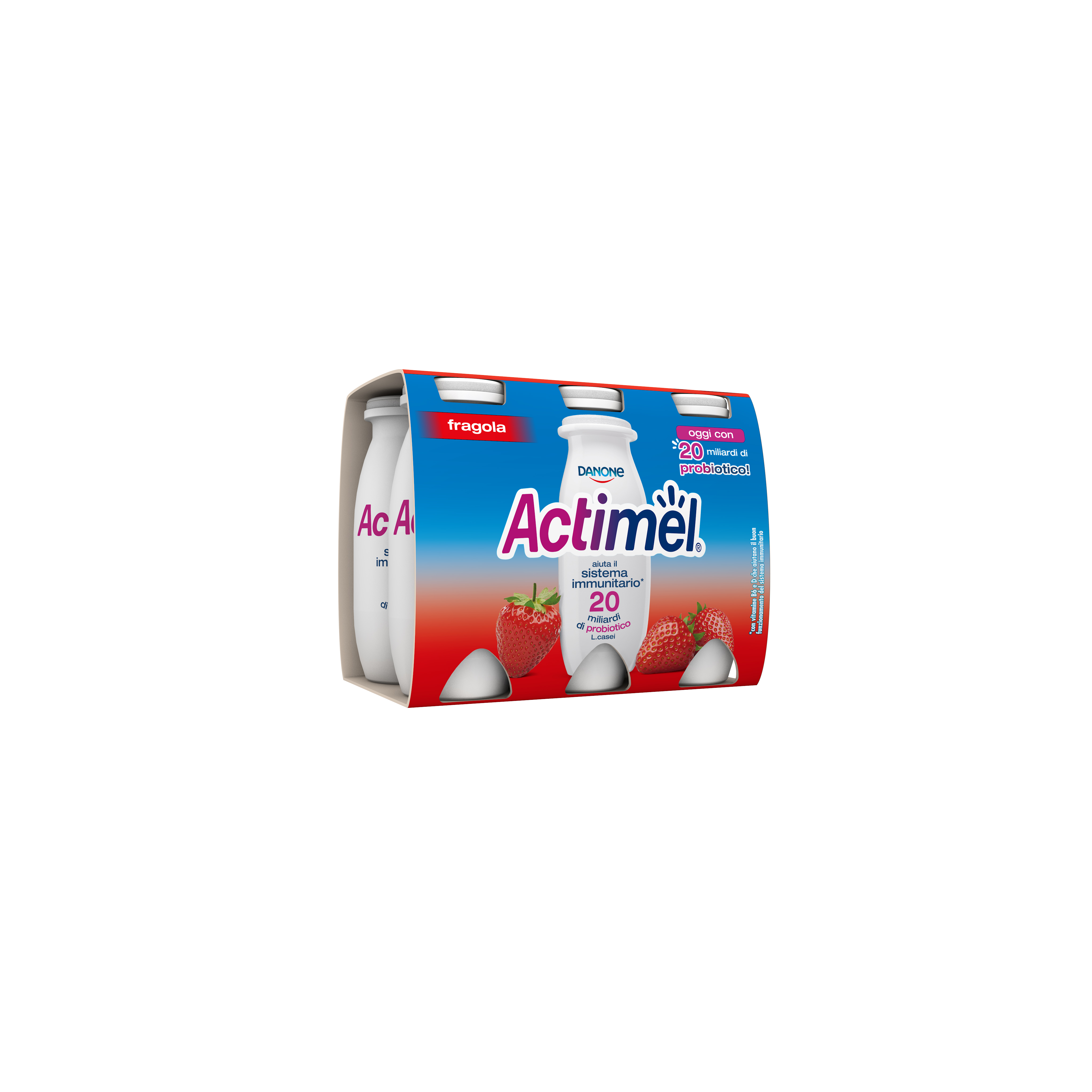 ACTIMEL DANONE 100GX6 FRAGOLA