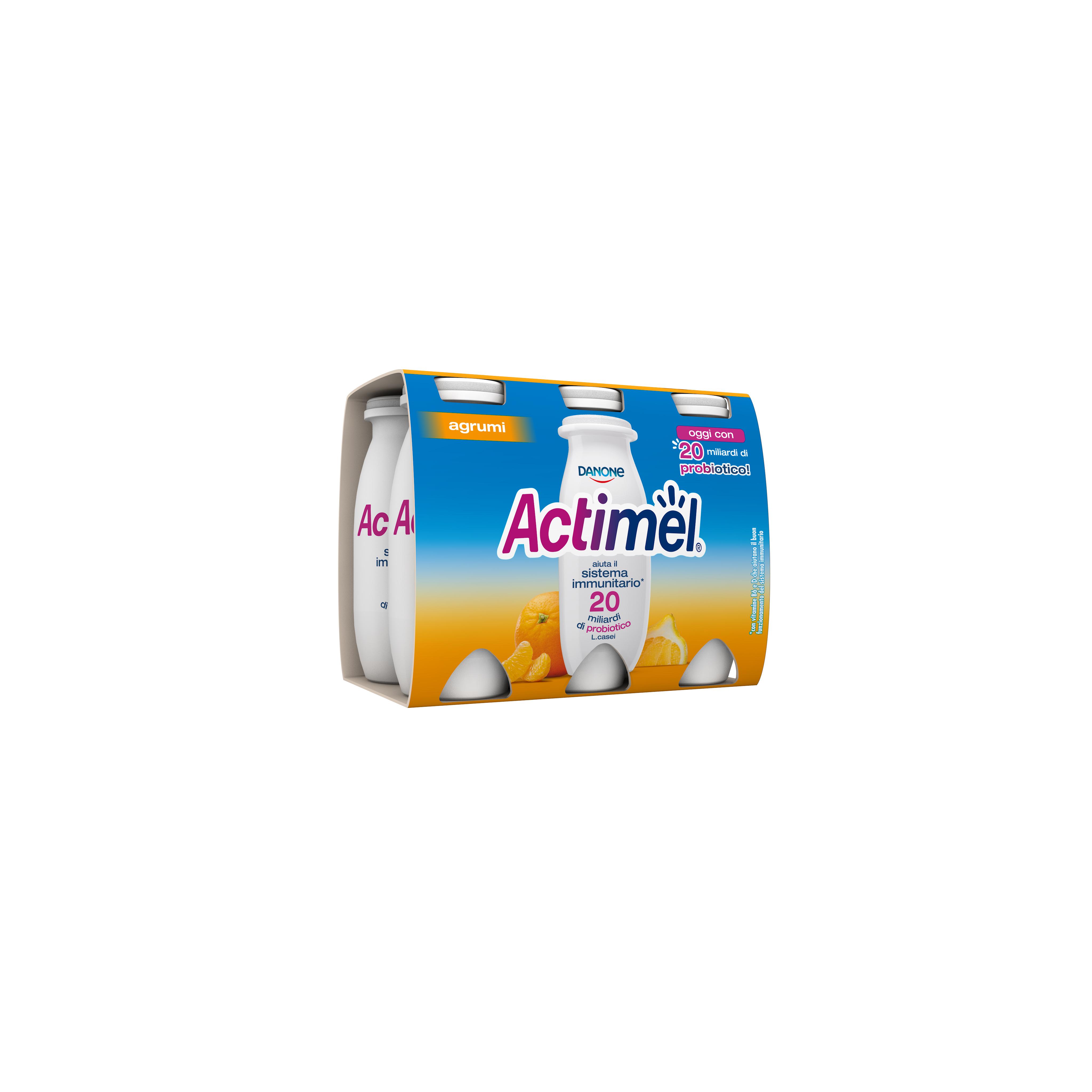 ACTIMEL DANONE 100GX6 AGRUMI