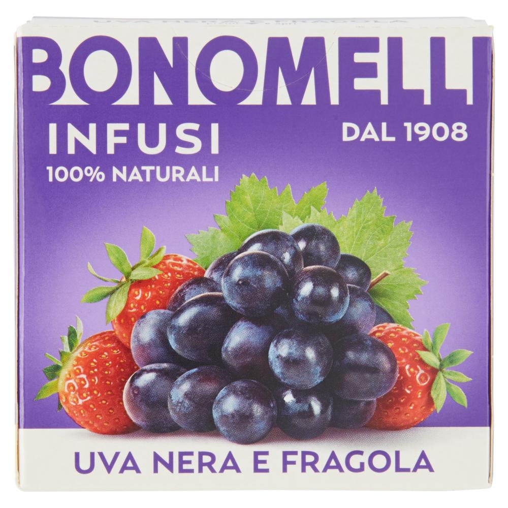 Bonomelli Infusi 100% Naturali Uva Nera e Fragola 10 Filtri 23 g