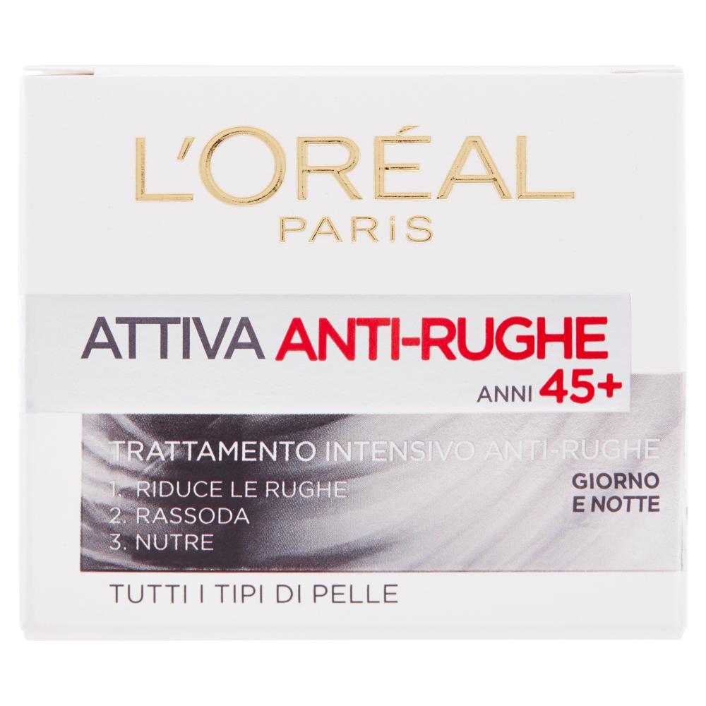L'Oréal Paris Attiva Anti-Rughe Trattamento intensivo anti-rughe anni 45+ giorno e notte 50 ml