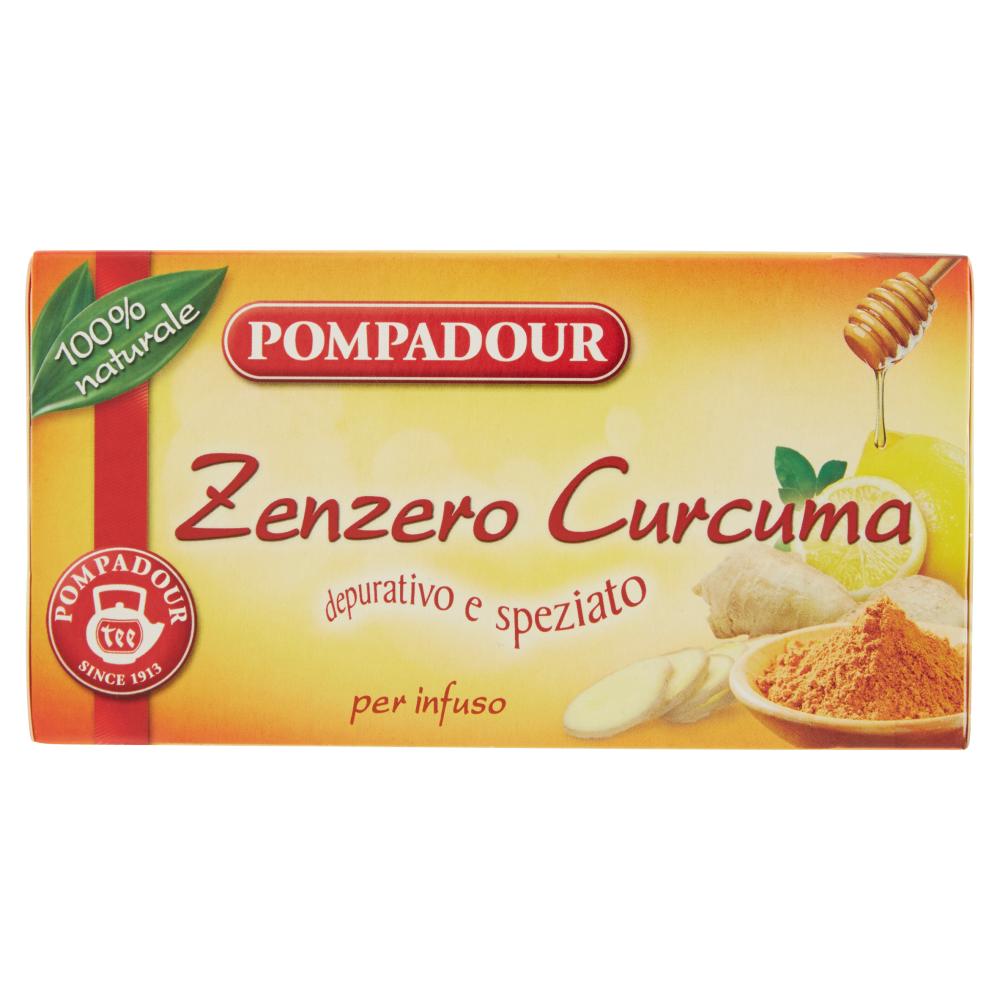 Pompadour Zenzero Curcuma 20 x 1,8 g