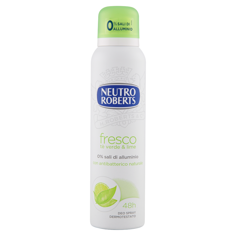 Neutro Roberts fresco tè verde & lime Deo Spray 150 ml