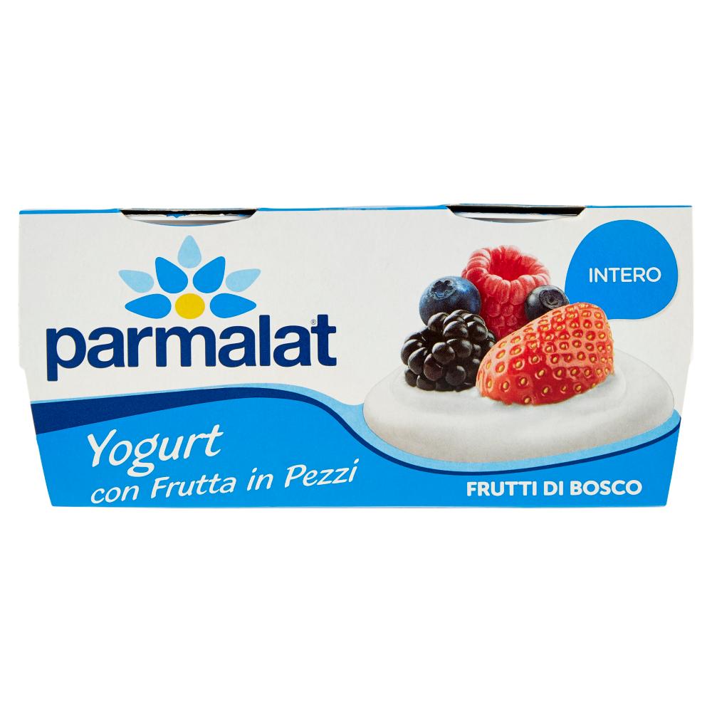 parmalat Yogurt con Frutta in Pezzi Intero Frutti di Bosco 2 x 125 g