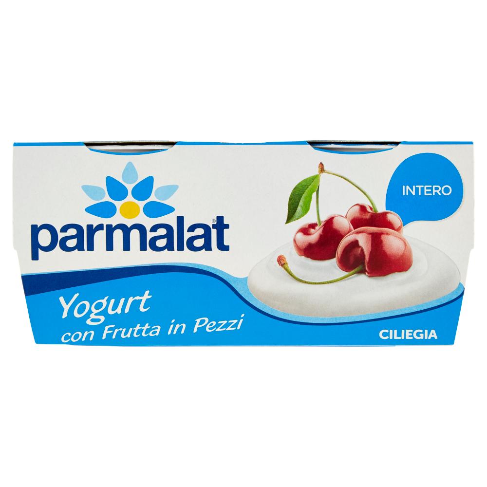 parmalat Yogurt con Frutta in Pezzi Intero Ciliegia 2 x 125 g