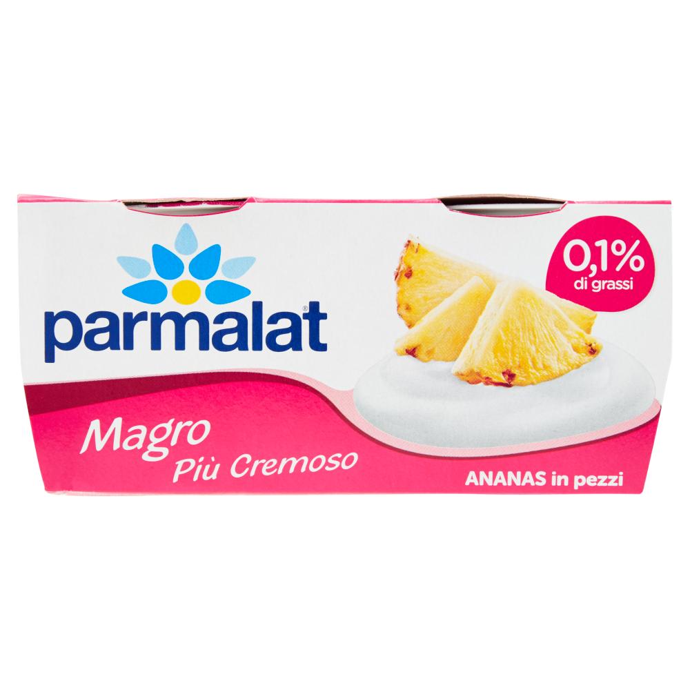 parmalat Magro Più Cremoso Ananas in pezzi 2 x 125 g