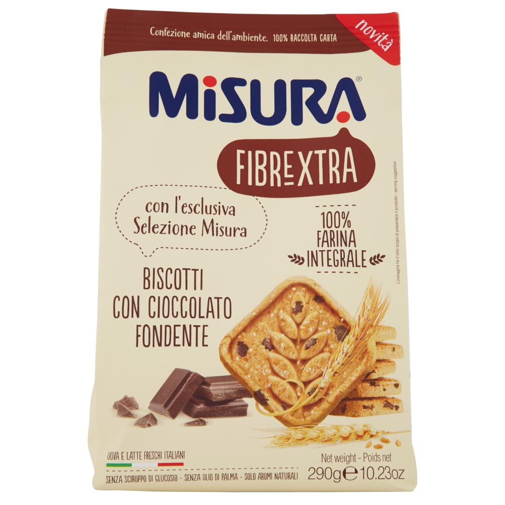 Misura Fibrextra Biscotti con Cioccolato Fondente 290 g