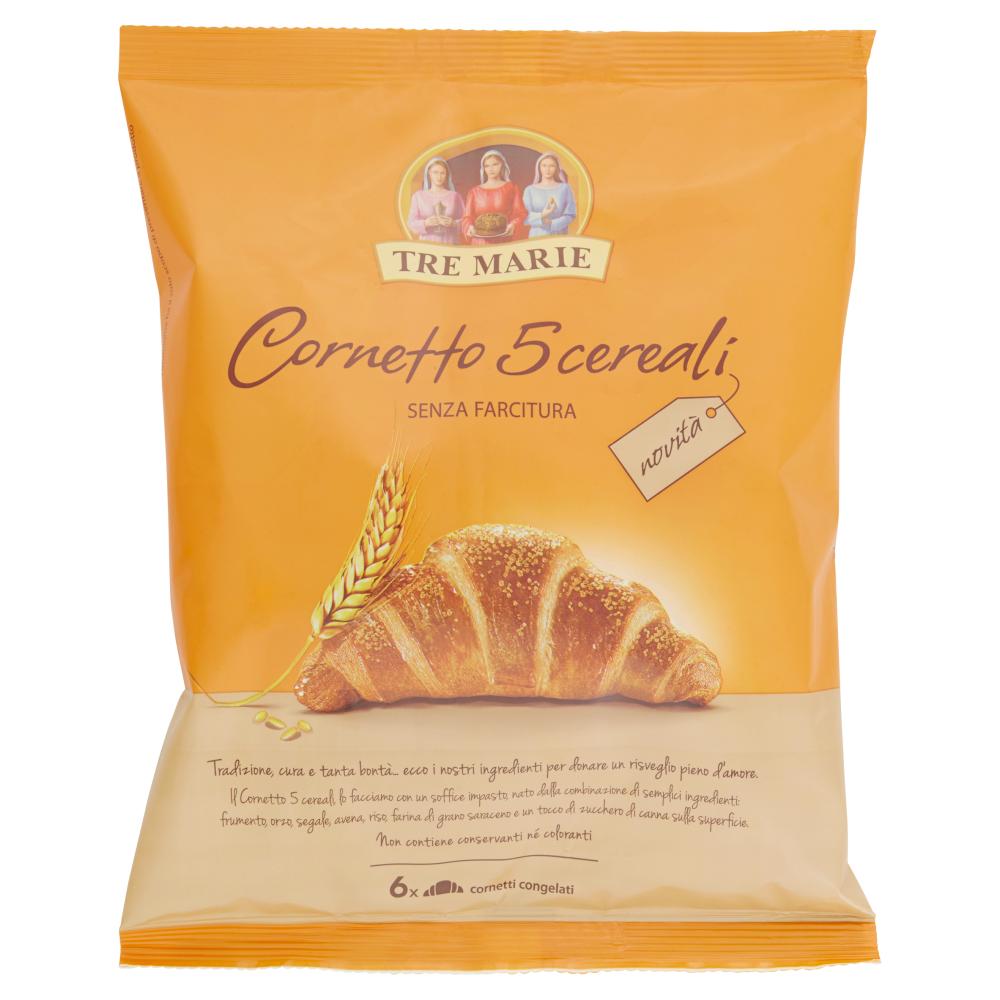 Tre Marie Cornetto 5 cereali Senza Farcitura 6 x 55 g