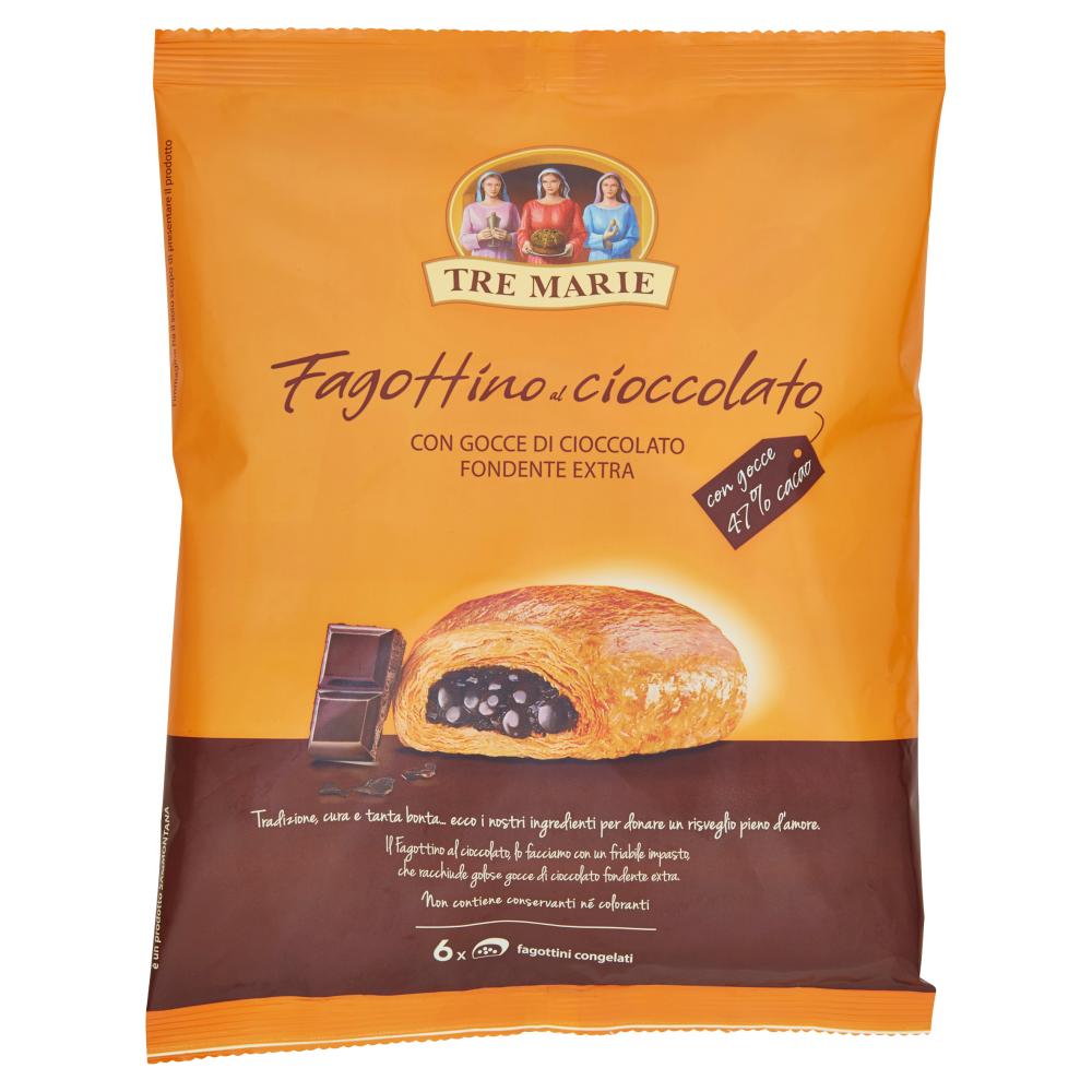 Tre Marie Fagottino al cioccolato con Gocce di Cioccolato Fondente Extra 6 x 65 g