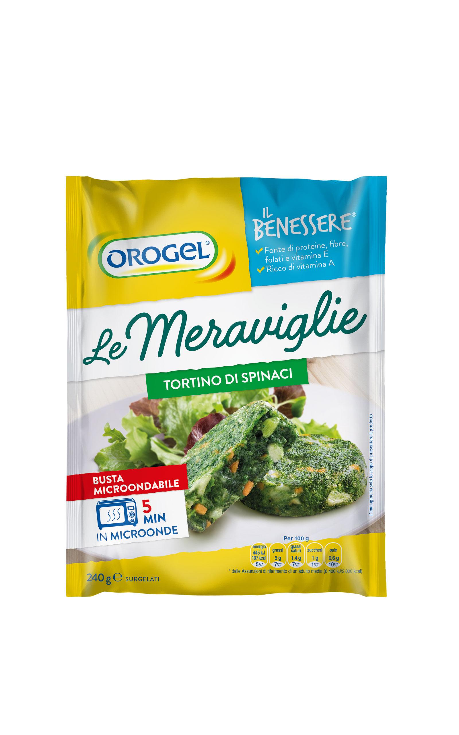 LE MERAVIGLIE TORT. SPINACI OROGEL 240 G