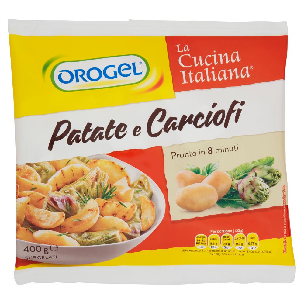 Orogel La Cucina Italiana Patate e Carciofi Surgelati 400 g