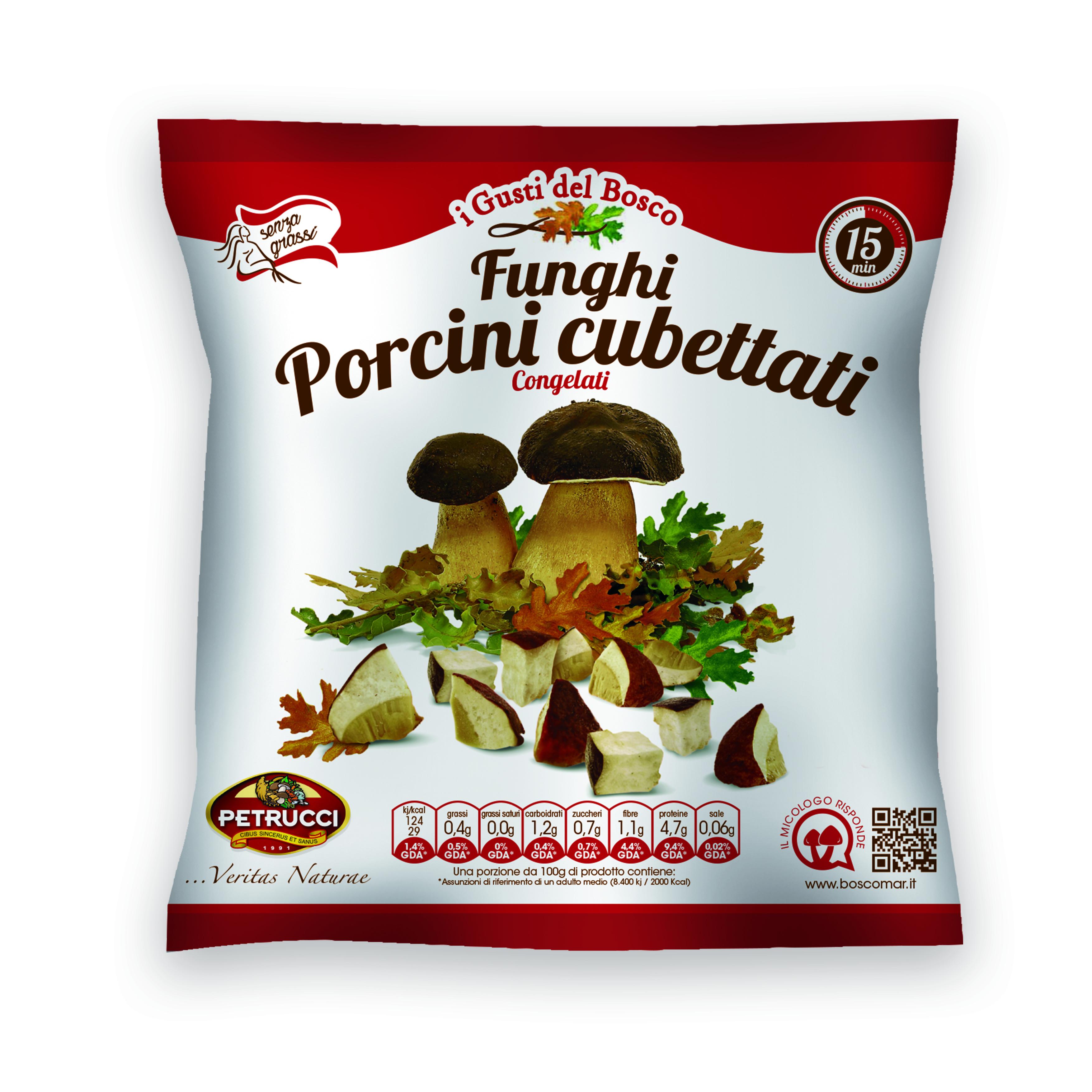FUNGHI  PORCINI CUBETTI PETRUCCI 300G