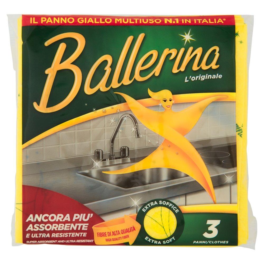 BALLERINA Panno Giallo 3 pz.