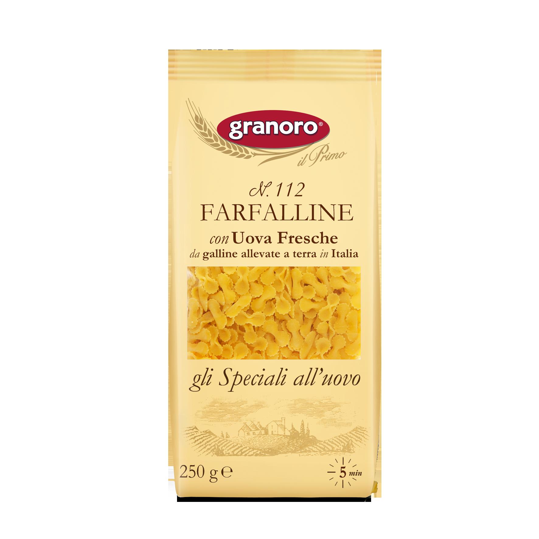 FARFALLINE UOVO GRANORO 250G N.112