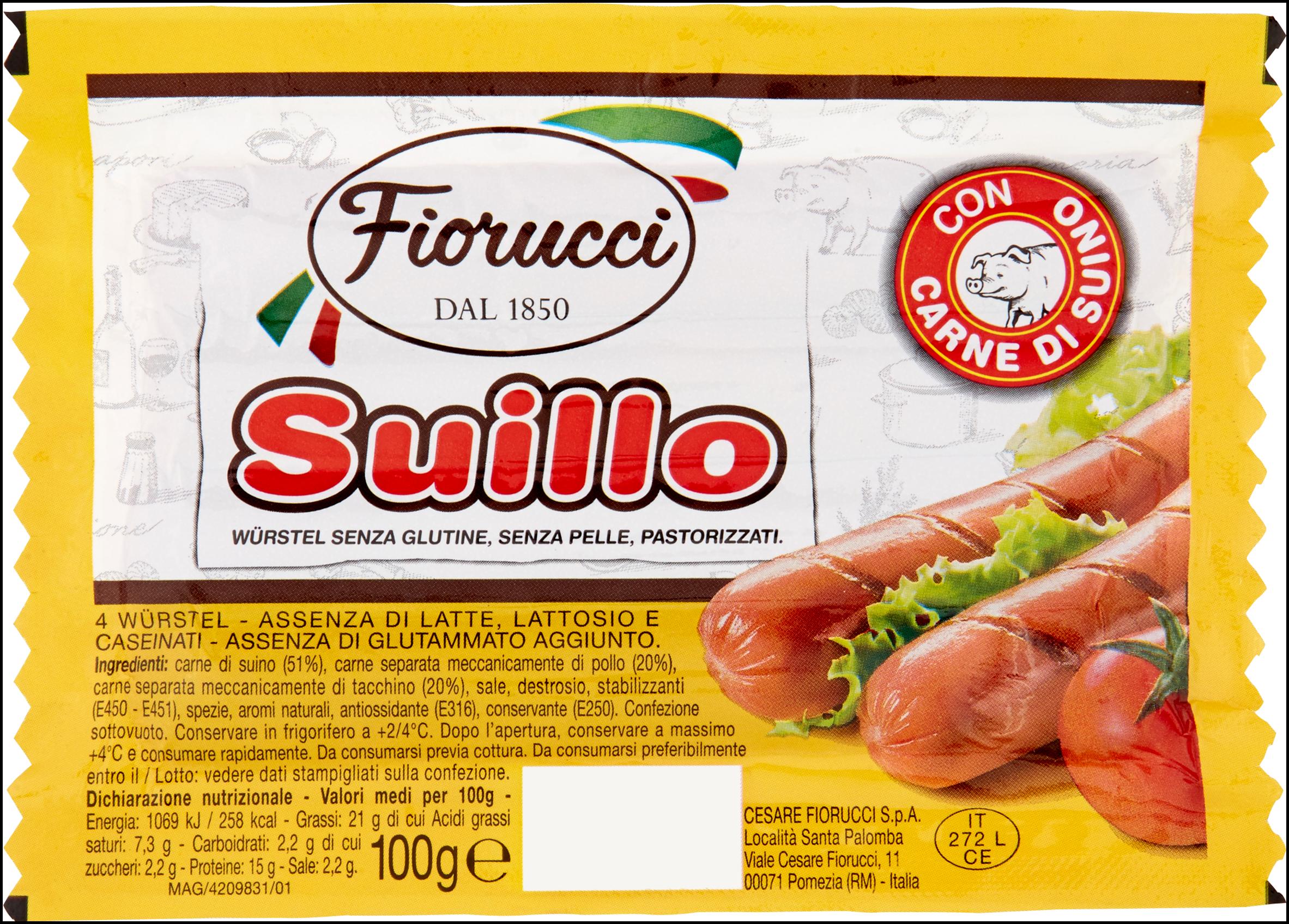 WURSTEL SUILLO FIORUCCI 100G