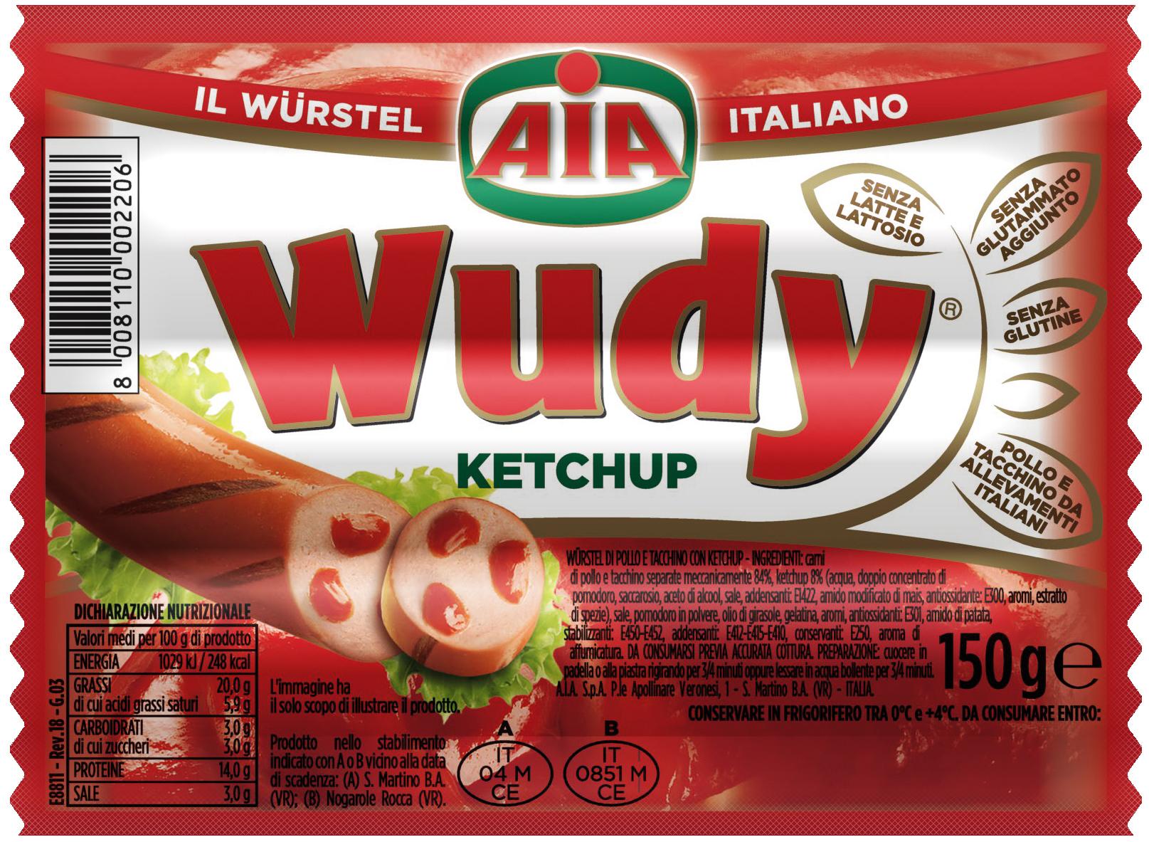 WURSTEL WUDY KETCHUP 150G