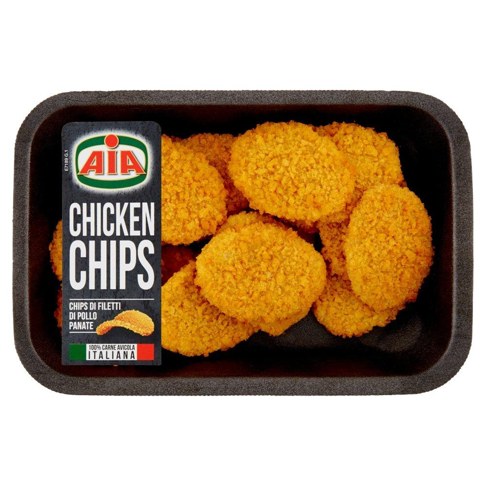 Aia Chicken Chips Chips di Filetti di Pollo Panate 0,230 kg