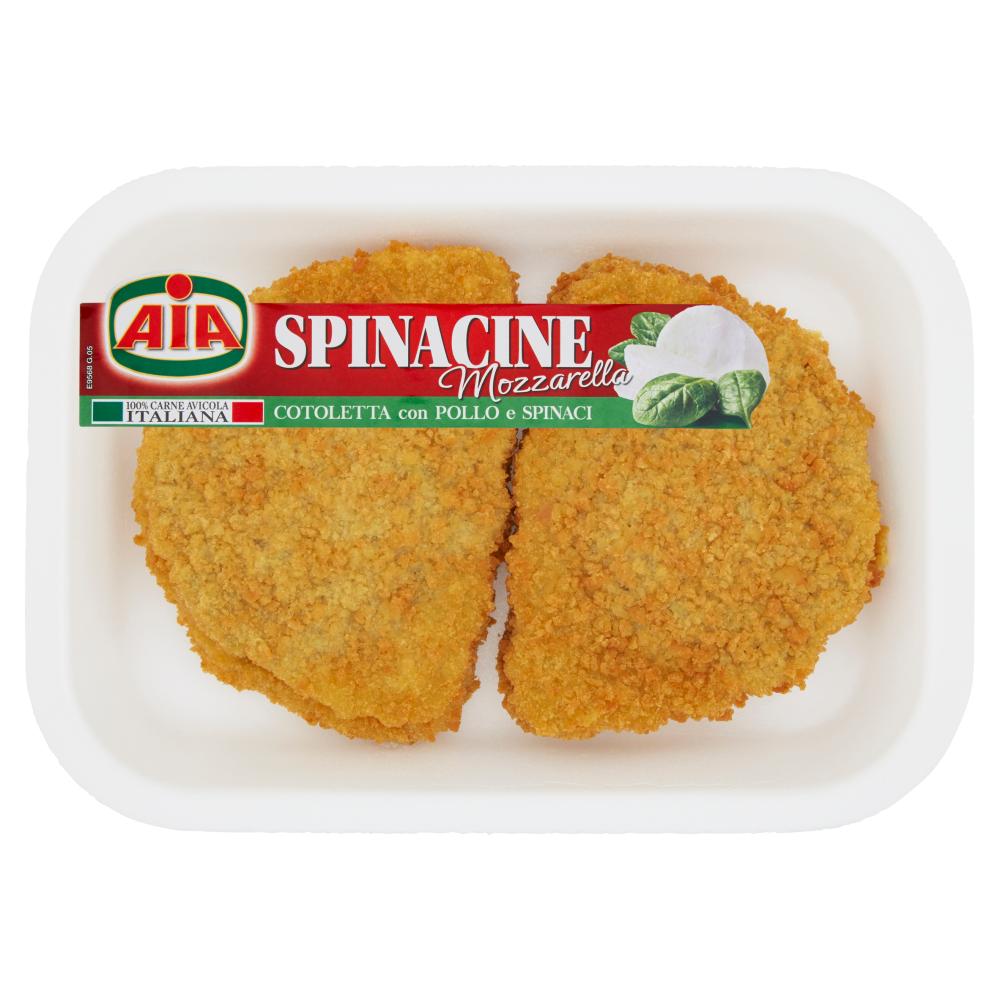 Aia Spinacine Mozzarella Cotoletta con Pollo e Spinaci 0,245 kg
