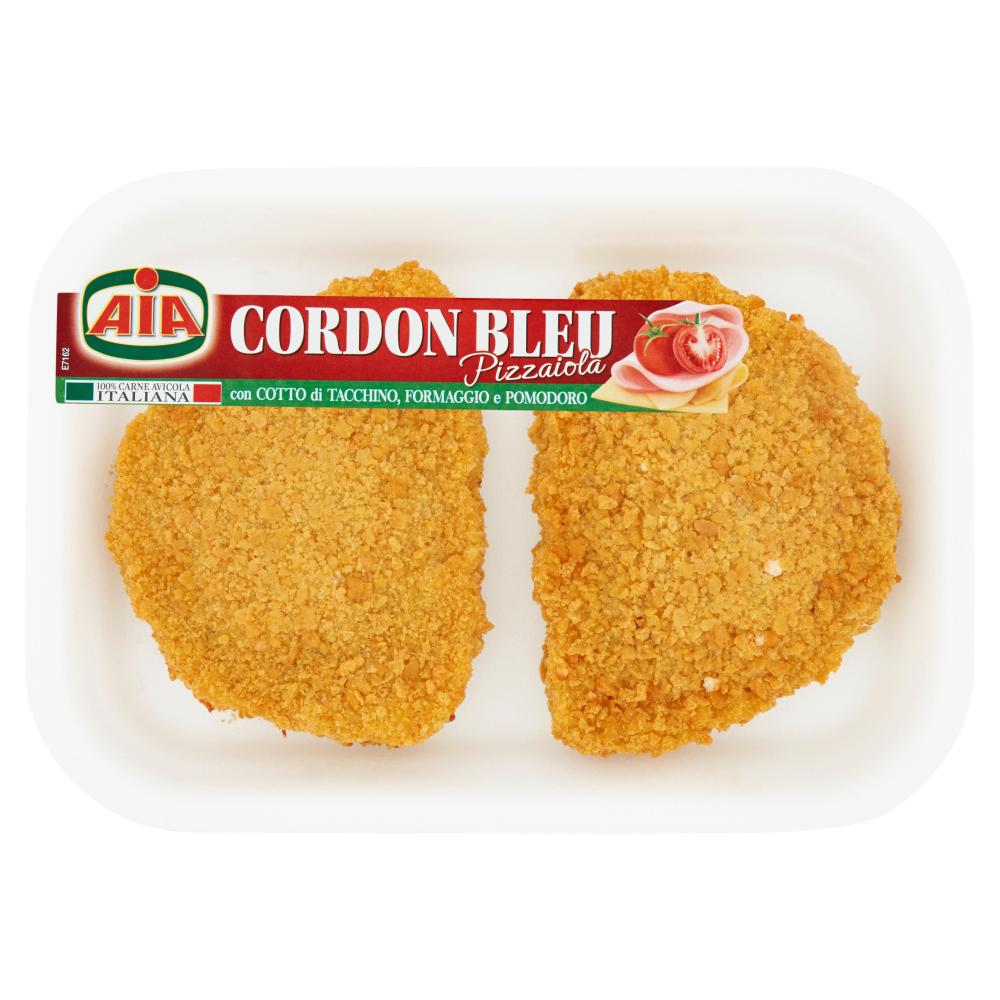 Aia Cordon Bleu Pizzaiola con Cotto di Tacchino, Formaggio e Pomodoro 0,245 kg