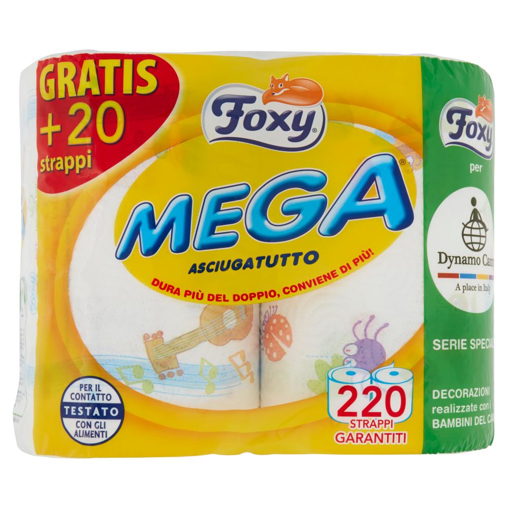 Foxy Mega Asciugatutto 2 veli decorato 2 maxi rotoli (ed. Dynamo Camp)