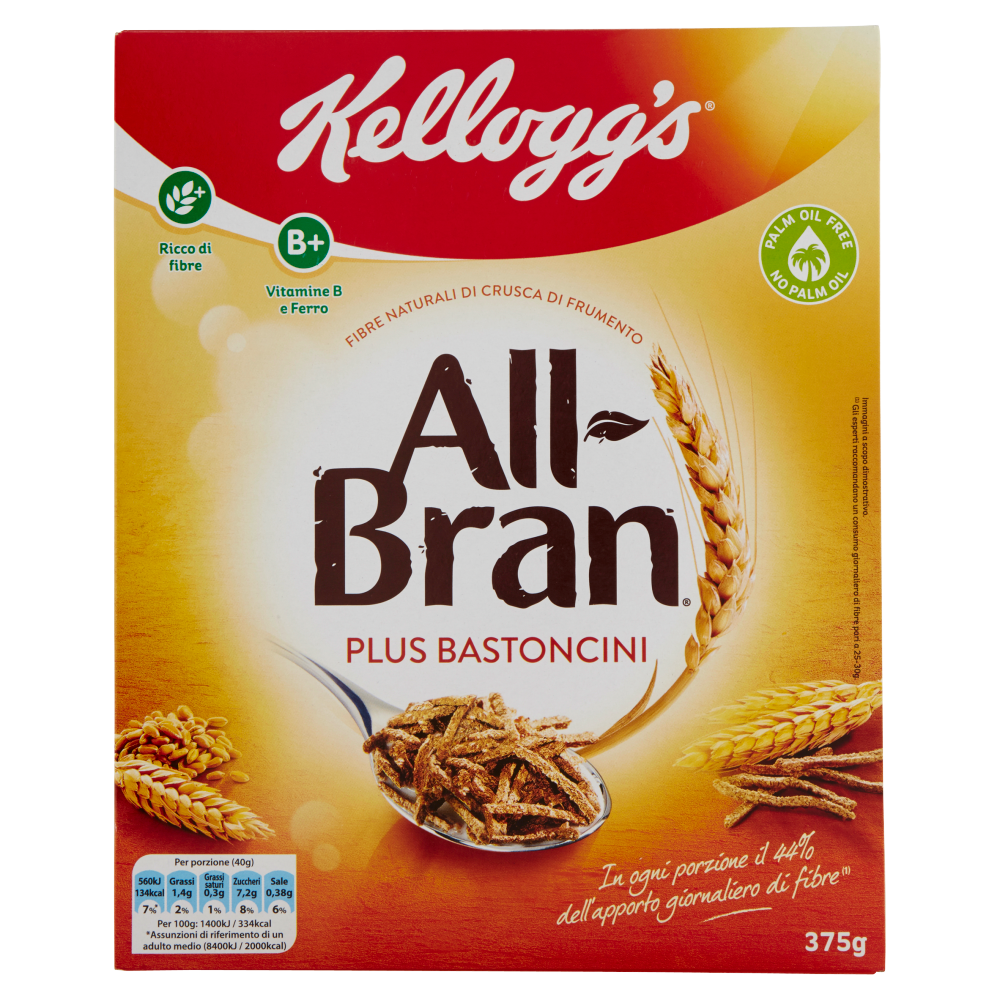 Kellogg's All Bran Plus Bastoncini 375 g