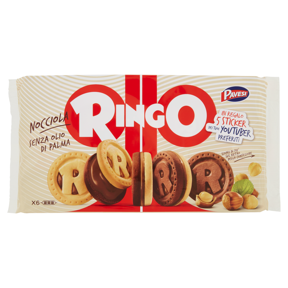 Pavesi Ringo Nocciola Promo Sticker 310 g
