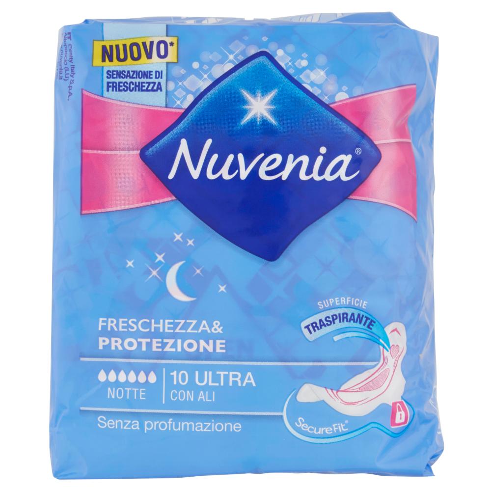 Nuvenia Freschezza & Protezione Notte Ultra con Ali 10 pz