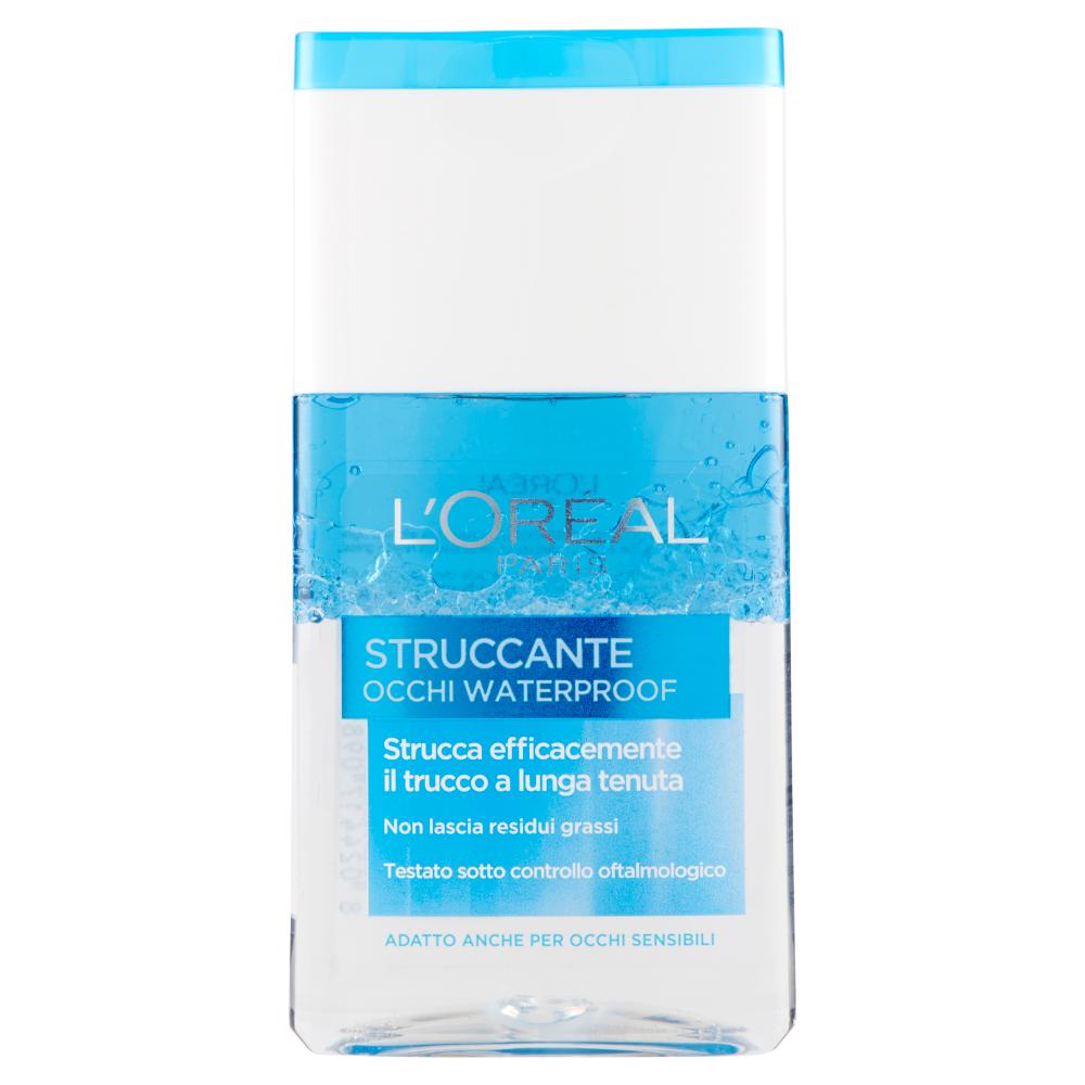 L'Oréal Paris Struccante occhi waterproof, strucca efficacemente il trucco a lunga tenuta, 125 ml