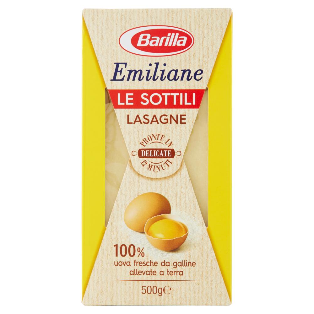Barilla Emiliane le Sottili Lasagne all'Uovo 500 g
